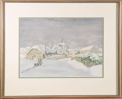 David W. Birch (b.1945) - Signed & Framed 1988 Watercolour, Late Snow