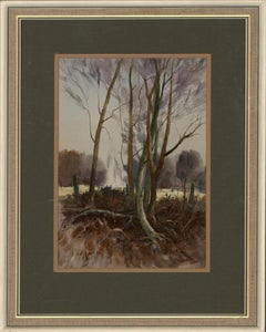 Dorothy Cross - Signed & Framed Mid 20th Century Watercolour, Young Trees