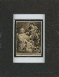 E.H.S. - Early 19th Century Watercolour, Two Gentleman