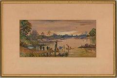 F.B. Yalavatti (fl.1930-1950) - Framed 1936 Watercolour, Fetching Water
