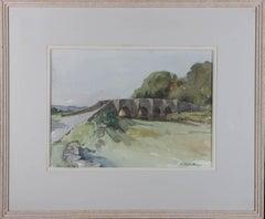 Jessie G. Taylor - Signed & Framed Mid 20th Century Watercolour, Cornish Bridge