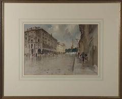 John Barrie Haste (1931 -2011) - Signed 20th Century Watercolour, Nevsky Avenue