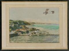 Alan Crisp - Signed & Framed Mid 20th Century Watercolour, Seaside Views