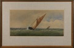 Charles Taylor Jnr (fl.1841-1883) - Mid 19th Century Watercolour, Choppy Waters