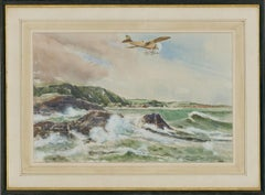 Alan Crisp - Signed & Framed Mid 20th Century Watercolour, The Sea's Edge