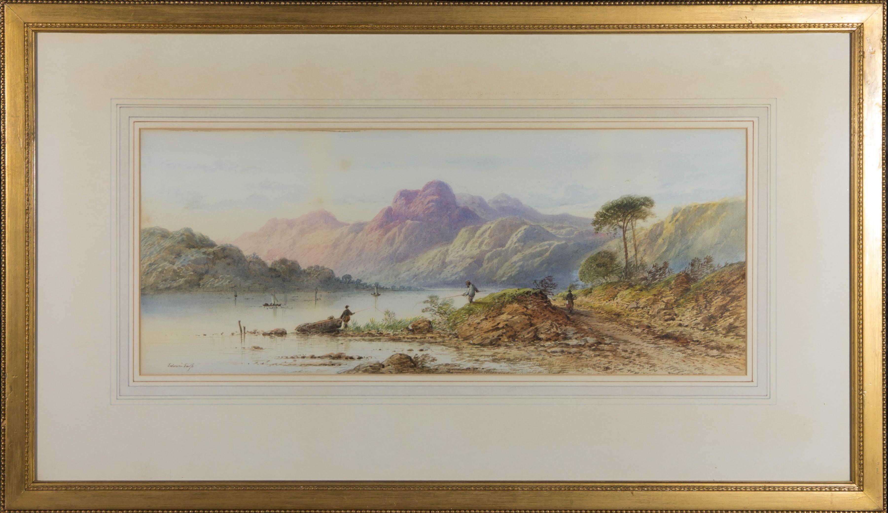 Edwin Earp (1851-1945) - Early 20th Century Watercolour, Fishermen