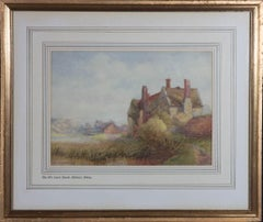 E.A. Hopwood - 1905 Watercolour, The Old Court House, Madeley, Salop