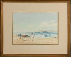 John Cochran - Early 20th Century Watercolour, Beach View