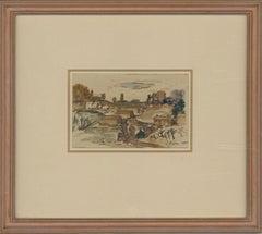 Edward R. Payne ARCA (1906-1991) - 1960 Watercolour, Minchinhampton