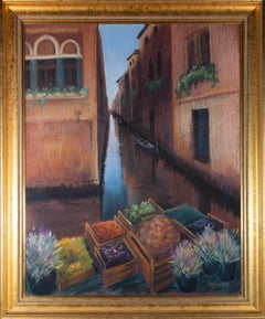 Symons - Signed & Framed Mid 20th Century Pastel, Venetian Afternoon
