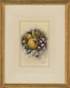 Christopher Hughes - 20th Century Watercolour, Apples and Grapes