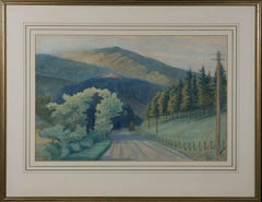 H.L. Matthey - Framed 1934 Watercolour, Towards the Mountain
