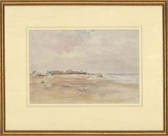 Attrib Robert G D Alexander (1875-1945) -Early 20thC Watercolour, Overcast Beach