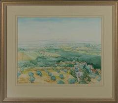 1994 Watercolour - Tuscany Village