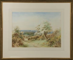 W. Hoyer - Signed & Framed 20th Century Watercolour, Windswept Shade