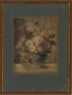 Attrib. Ann Beesley (fl.1774-1783) - 18th Century Watercolour, Summer Flowers