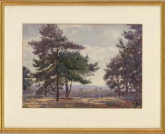 Joseph Poole Addey (1855-1922) - 1910 Watercolour, Oxshott Heath, Surrey