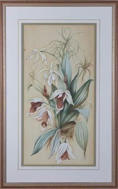 K.S. - 1889 Watercolour, Flower Study
