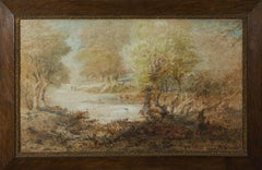 Andrew MacCallum (1821-1902) - Signed & Framed 20th Century Watercolour, River