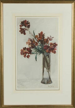 Rose E. Welby - Early 20th Century Watercolour, A Vase of Flowers
