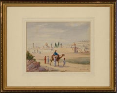 Marcel Blairat (1849-1891) - Late 19th Century Watercolour, Camel Travelling