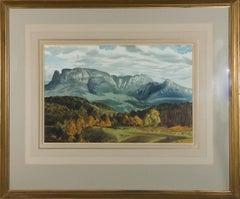1956 Watercolour - Distant Mountains