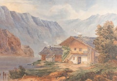 Mid 19th Century Watercolour - The Little Wooden Cottage