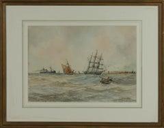 Aubrey Ramus - Early 20th Century Watercolour, Ships at Sea
