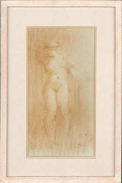 Framed 1977 Pastel - Nude Figure