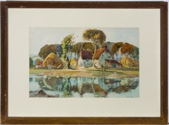 John Edmund Mace RBA (1889-1952) - Watercolour, Rural Farm Scene with Cottage