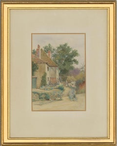 Thomas Nicholson Tyndale (1860-1930) - Watercolour, Cottage with Two Figures