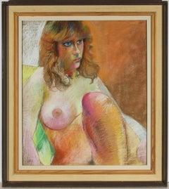 John Ivor Stewart PPPS (1936-2018) - 20th Century Pastel, Vibrant Nude Study