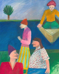 Mana Lagerholm (1946-2001) - 20th Century Gouache, River Boat
