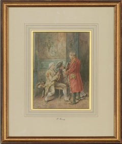P. Ficuzeny - Framed & Signed Late 19th Century Watercolour, The Musicians