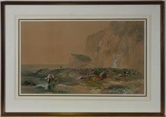 James Vivien de Fleury (1847-1902) - 1900 Watercolour, Whitecliff Bay, IOW