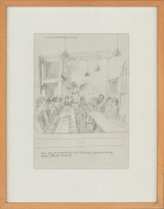 Leonard Manasseh RA PPRWA (1916-2017) - Graphite Drawing, The Old Brewery