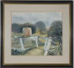 Winstanley - Large Framed 20th Century Watercolour, The Weir
