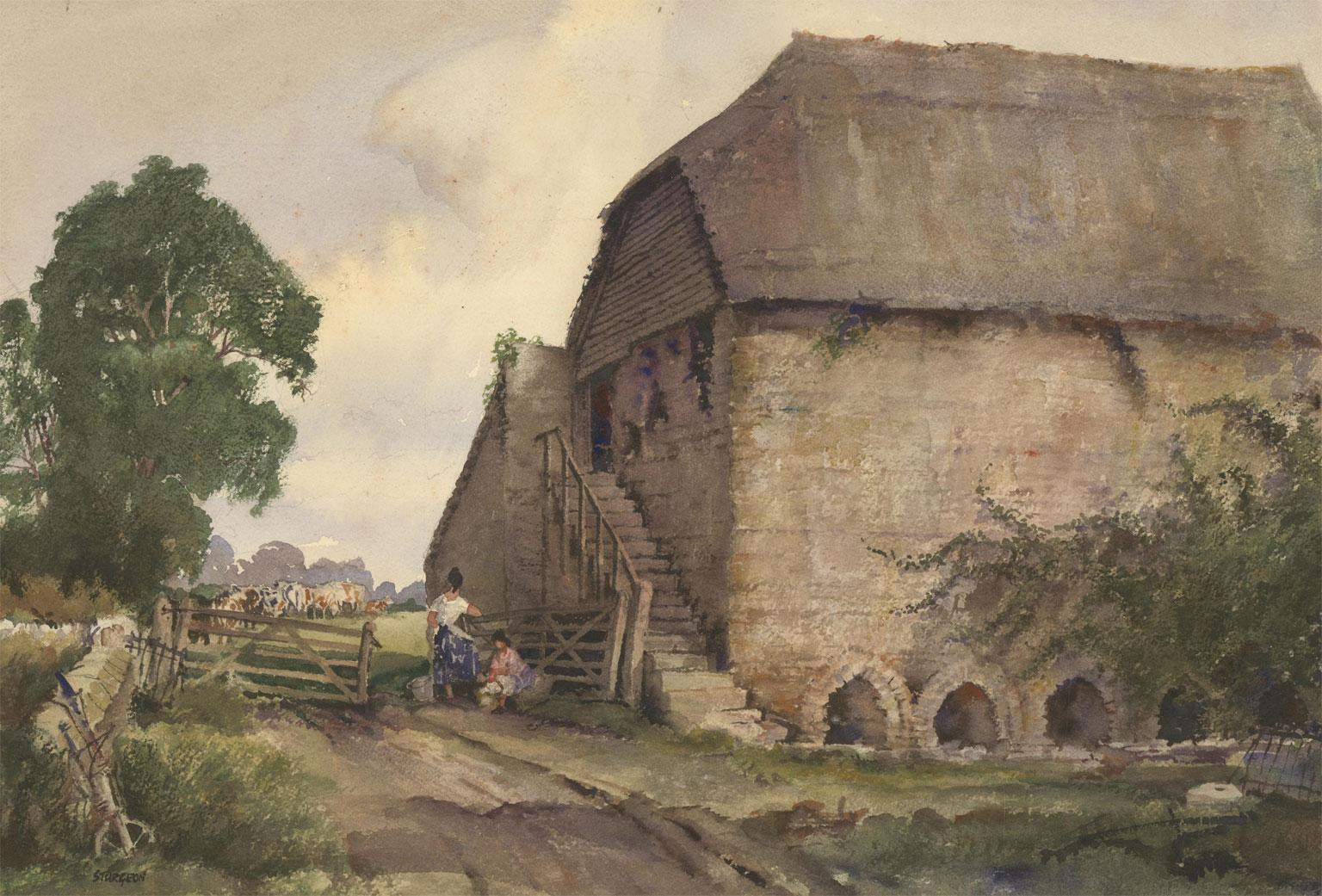 Eric Richard Sturgeon (1920-1999)  - 20th Century Watercolour, The Dairy Farm