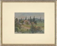 Hermione Hammond (1910-2005) - Contemporary Watercolour, Vaison-la-Romaine
