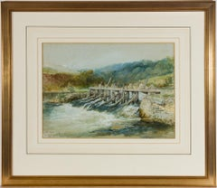 Frederick Henry Henshaw (1807-1891)  - Signed 1869 Watercolour, The River Avon