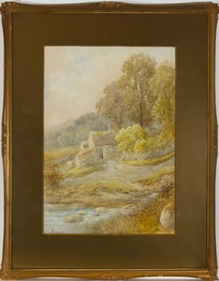 George Alexander (1832-1913) - Watercolour, Welsh Stone Cottage