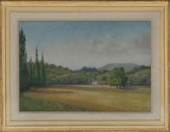 Framed 20th Century Pastel - Provençal Landscape