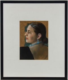 V.S. - Framed 20th Century Pastel, Spanish Dama