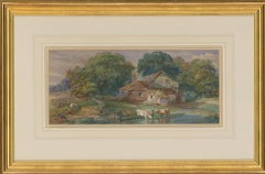 George James Knox (1810-1897) - Framed Mid 19th Century Watercolour, The Cottage