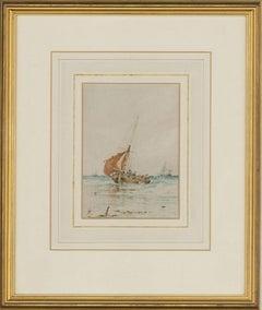 Albert Markes (1865-1901) - Framed Late 19th Century Watercolour, Sailing Boats