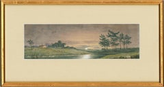 N.F. - Set of Three 1893 Watercolours, Rural Landscapes