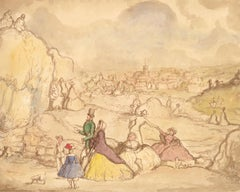 Harold Hope Read (1881-1959) - Pen and Ink Drawing, High Society Pastimes