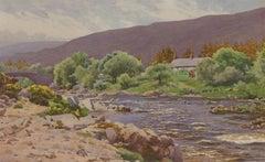 George Drummond Fish (1876-1938) - Watercolour, Annagh River, Killernan