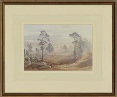 Jonathon Sainsbury (b.1951) - Signed & Framed 1993 Watercolour, Landscape Scene