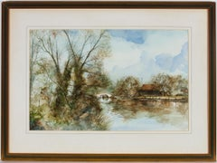 Alexander Prowse PS - Charming 20th Century Watercolour, Canal Scene
